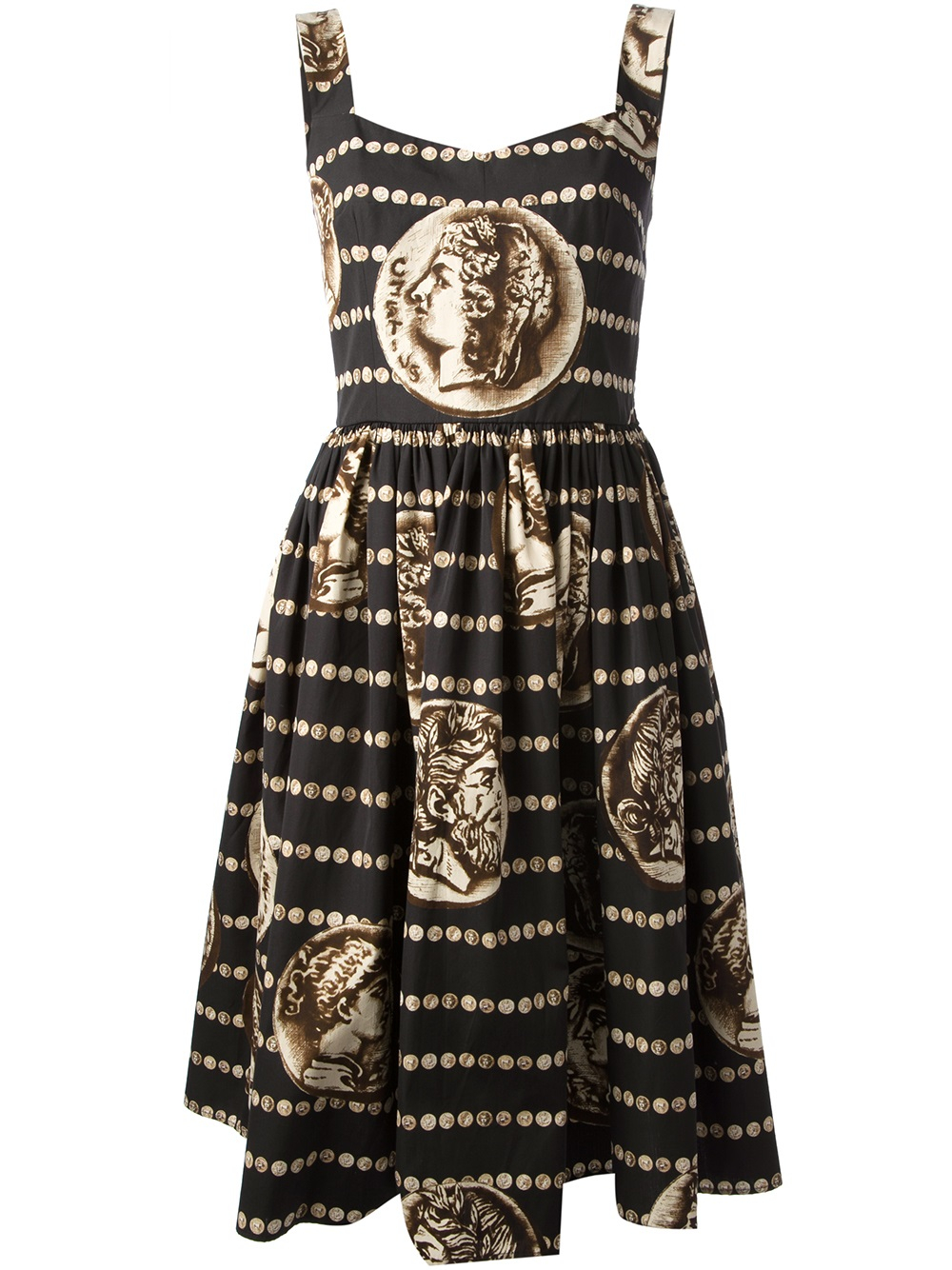 Coin Collection For Sale >> Dolce & Gabbana Roman Coin Print Dress in Black | Lyst