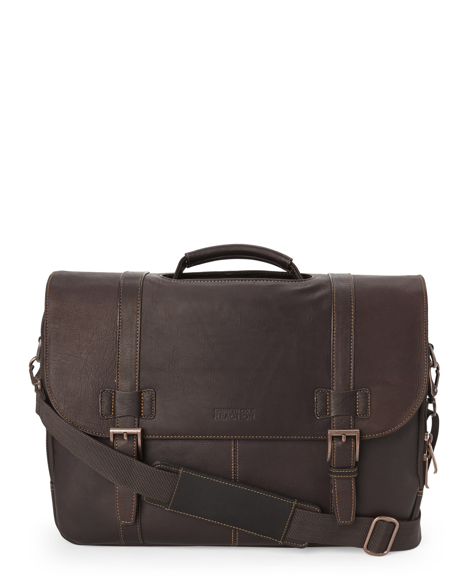 Kenneth cole reaction Show Business Laptop Bag in Brown for Men | Lyst