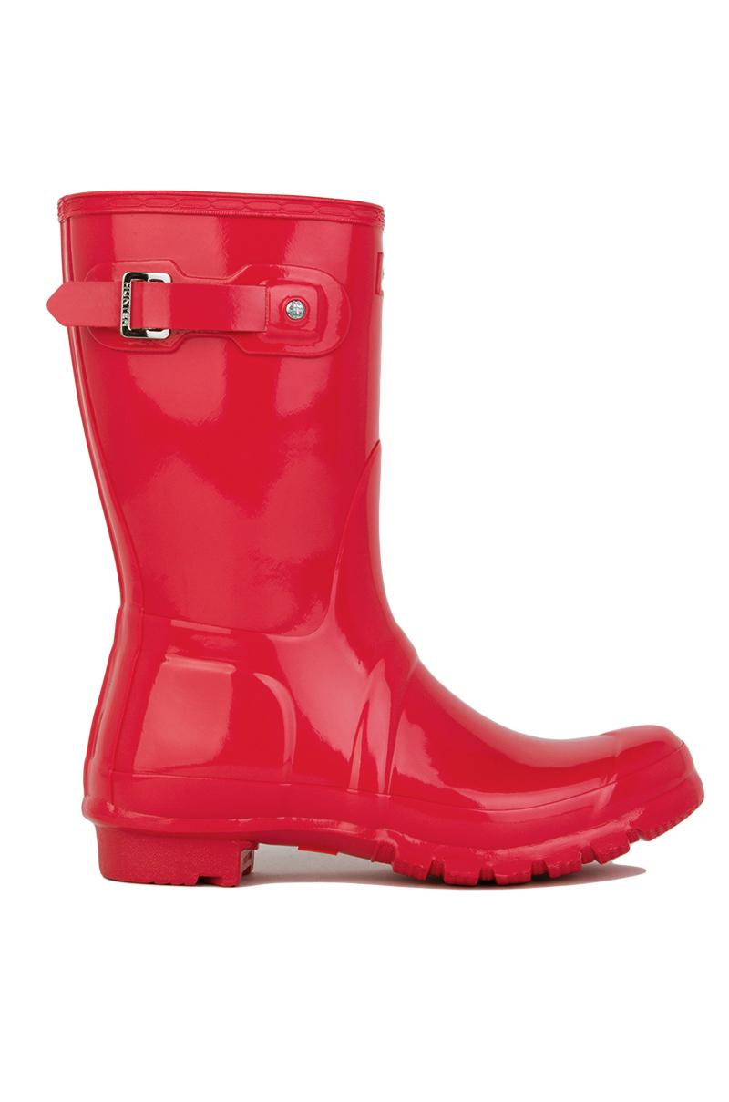 Lyst - Hunter Original Short Gloss Rain Boots In Bright ...