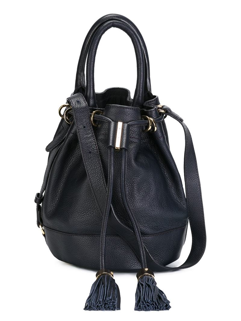 21472fbd10cb See By Chloé Vicki Leather Bucket Bag in Blue - Lyst