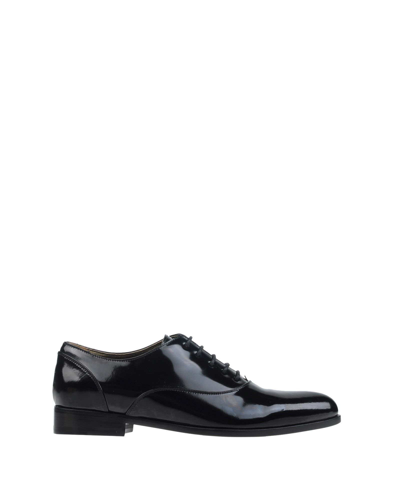 lanvin lace up shoes in black lyst