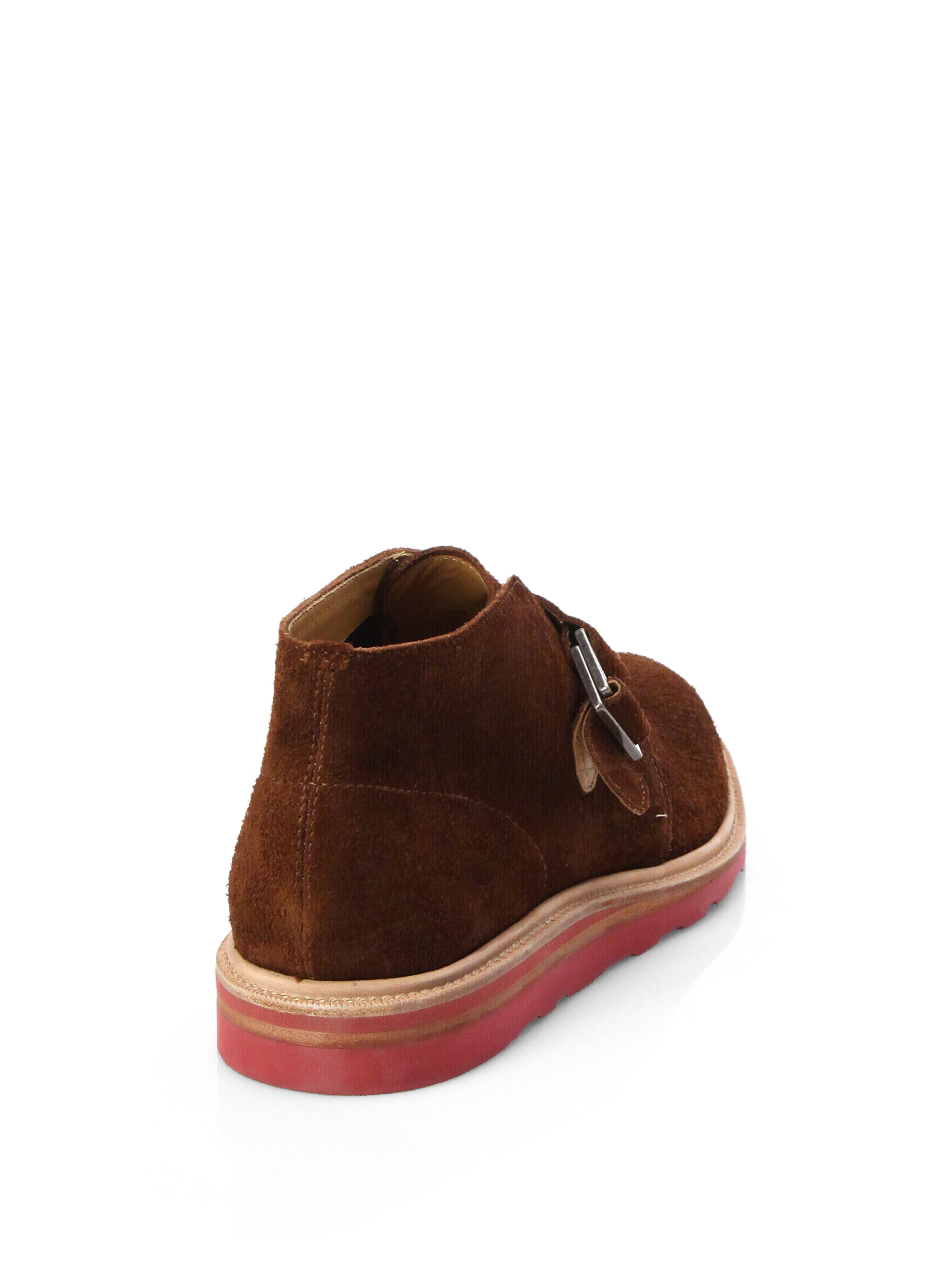 cole haan suede chukka boots in brown for lyst