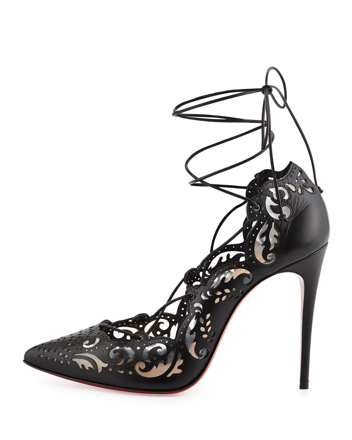 christian louboutin impera lace up heels