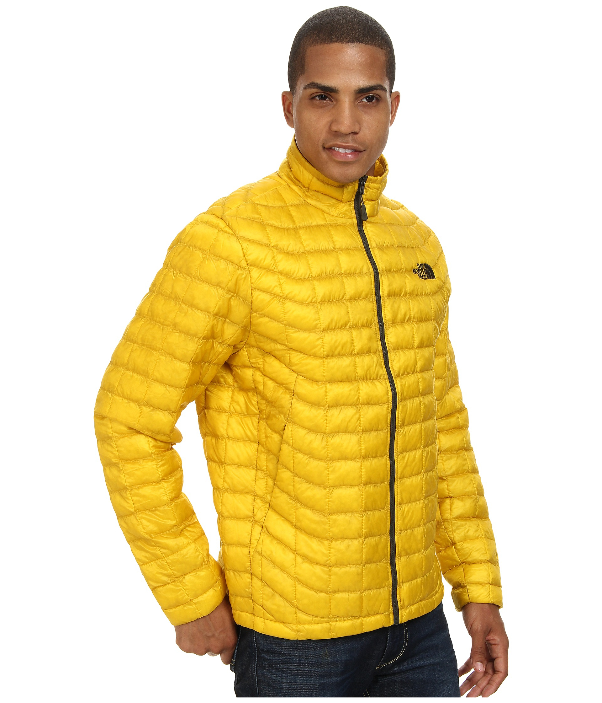 8d31238c4cf2 Lyst - The North Face Thermoball™ Full-Zip Jacket in Yellow for Men
