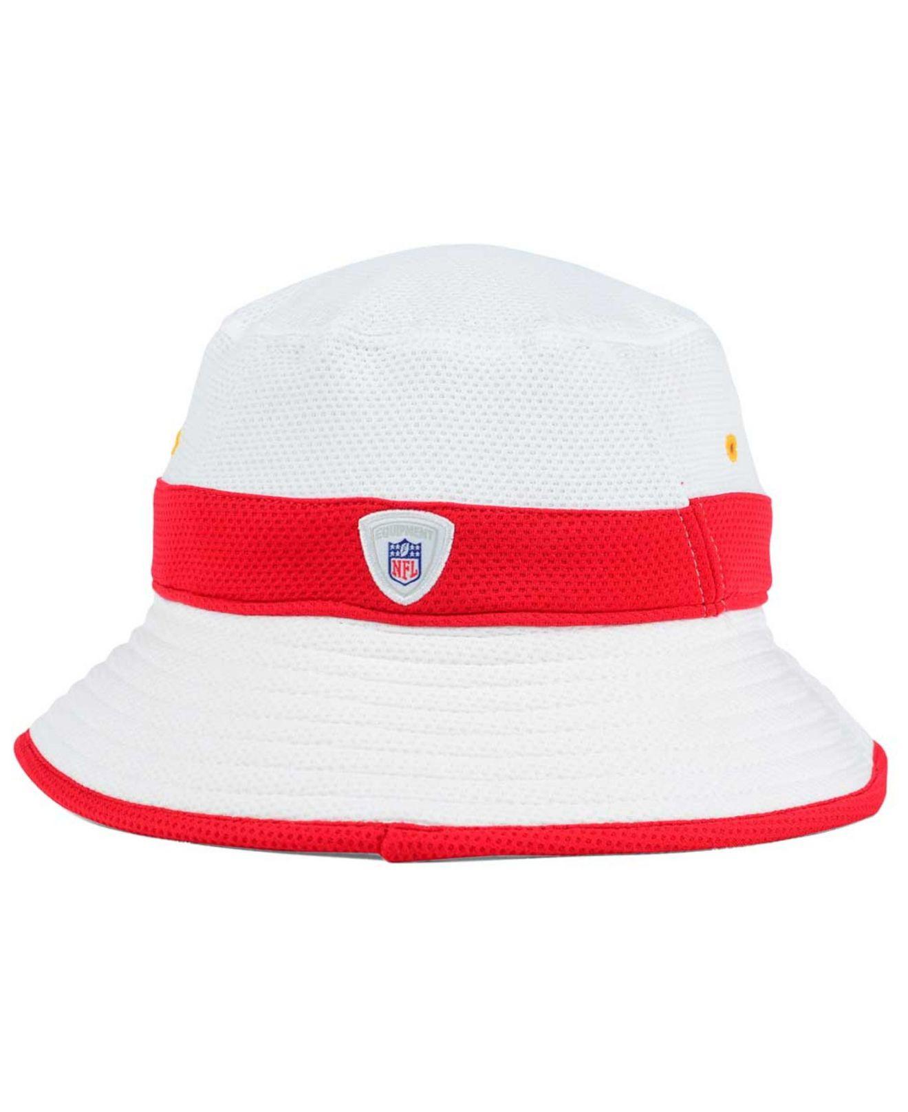 timeless design 5318d d6bbc KTZ Kansas City Chiefs Training Camp Official Bucket Hat in White ...