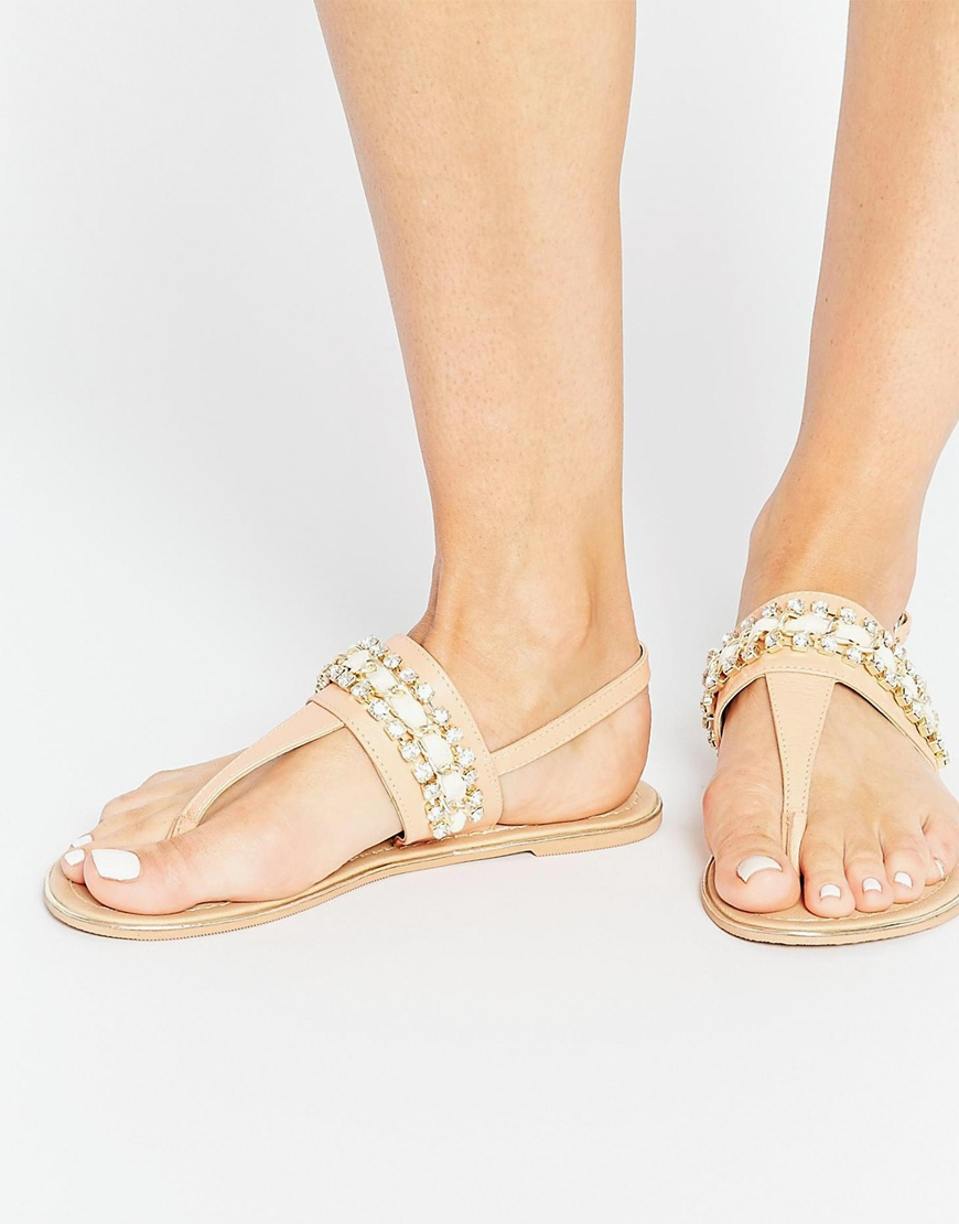 Buy Women Shoes / Asos Florrie Wide Fit Embellished Flat Sandals