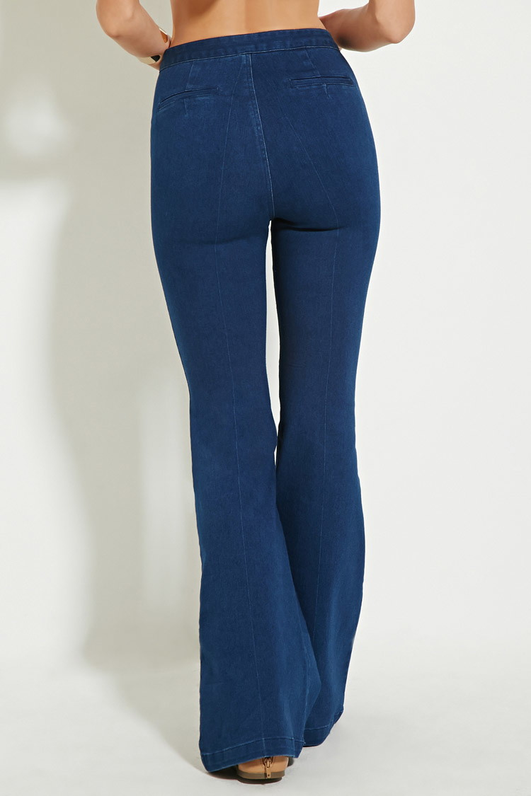 Gallery. Women's High Waisted Jeans - Forever 21 Flare High-waisted Jeans In Blue Lyst