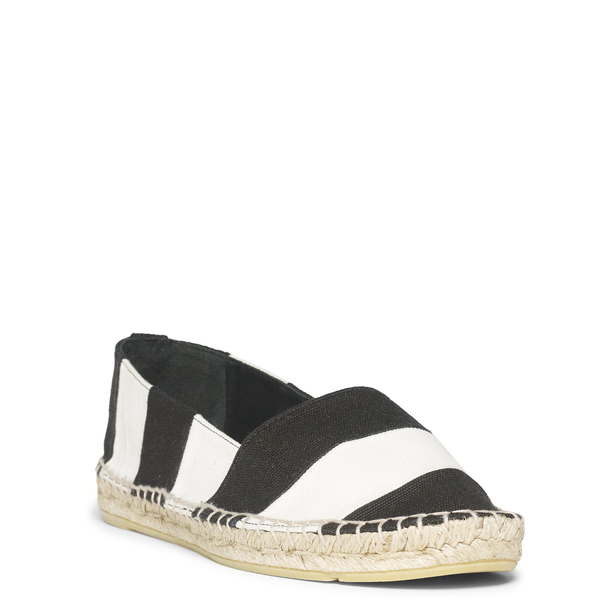polo ralph lauren striped canvas espadrille in black for men lyst. Black Bedroom Furniture Sets. Home Design Ideas