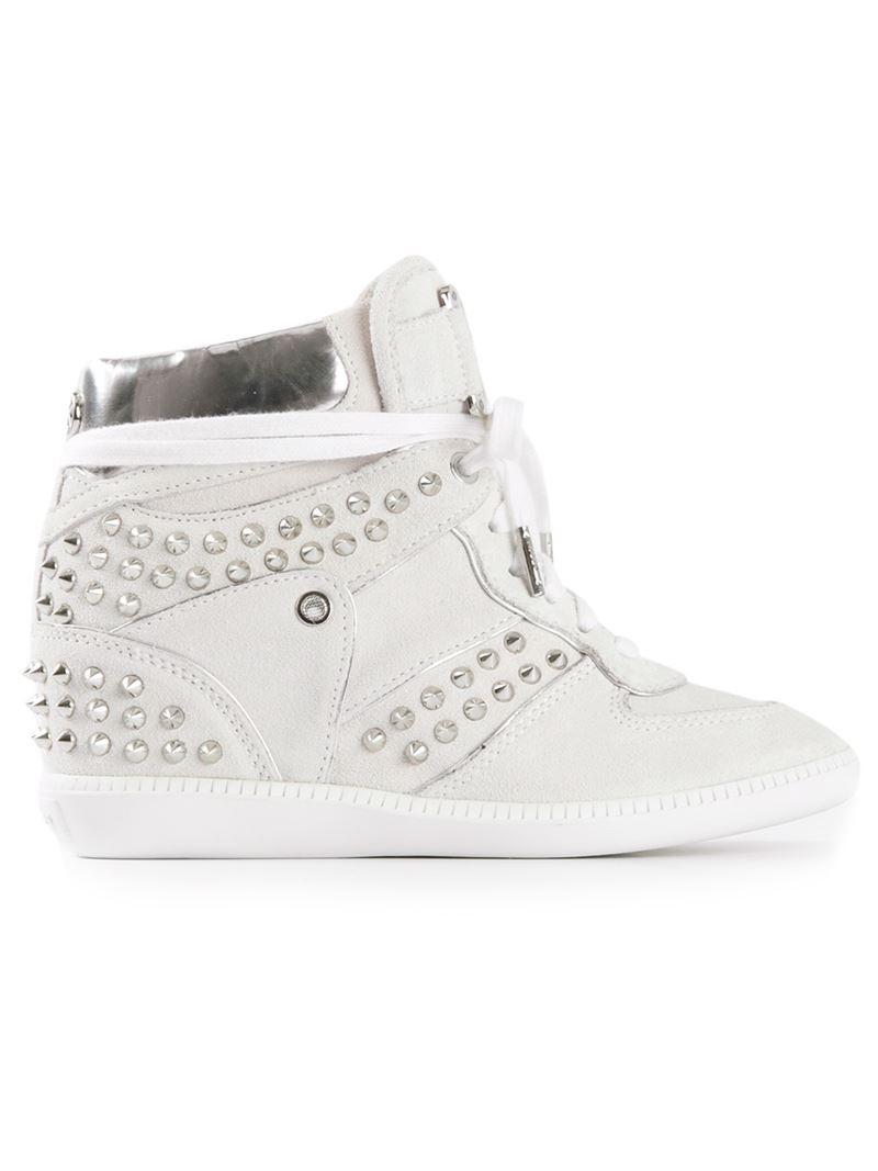 3a4c40659f0e9 Michael Michael Kors  Nikki High-Top  in White - Lyst