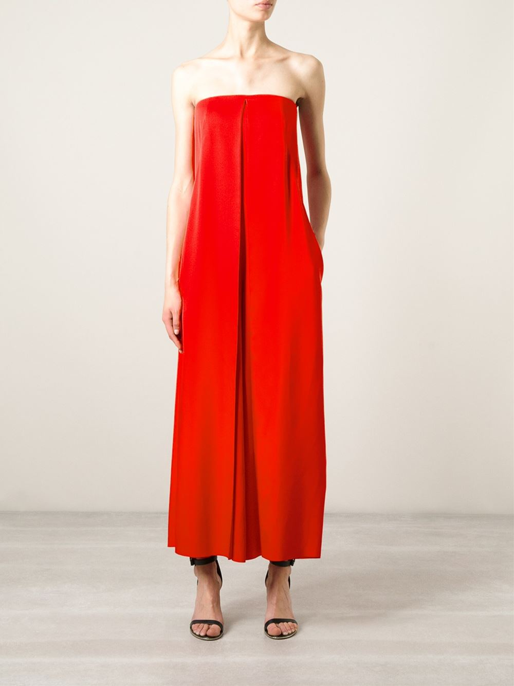 Cedric charlier Wide Leg Jumpsuit in Red | Lyst