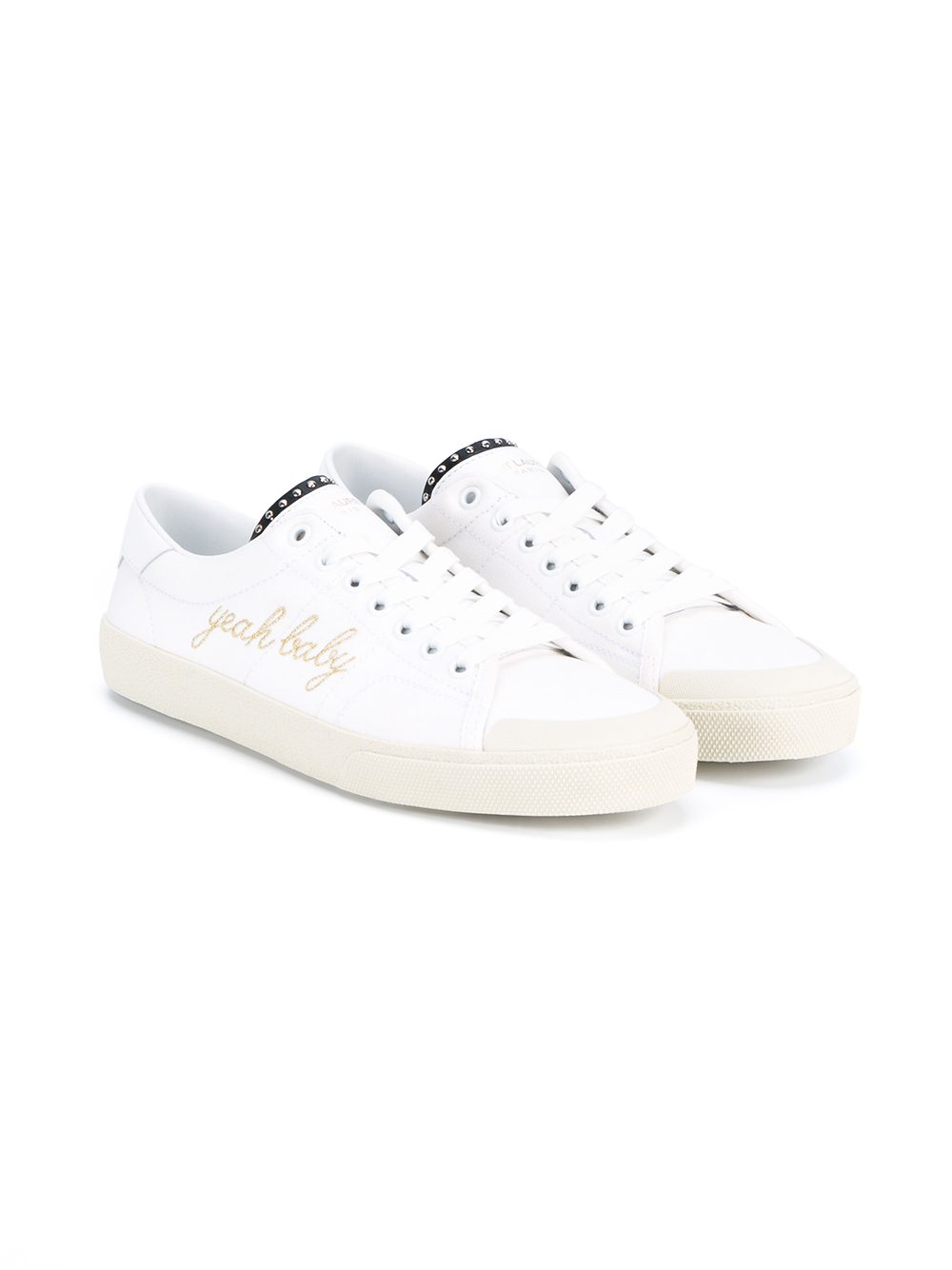 Baby Sneakers In Laurent White Lyst Yeah Canvas Saint gn7wFST