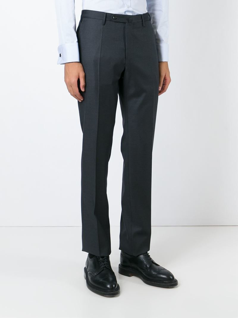 regular fit trousers - Grey Incotex Shopping Online With Mastercard Cheap Sale Clearance Wholesale Price qtZQc