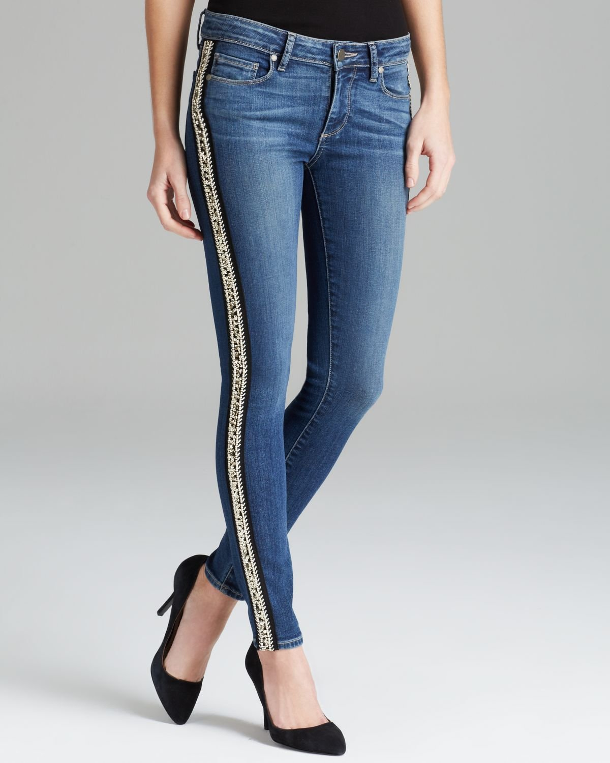 Paige denim jeans verdugo ankle skinny in evie