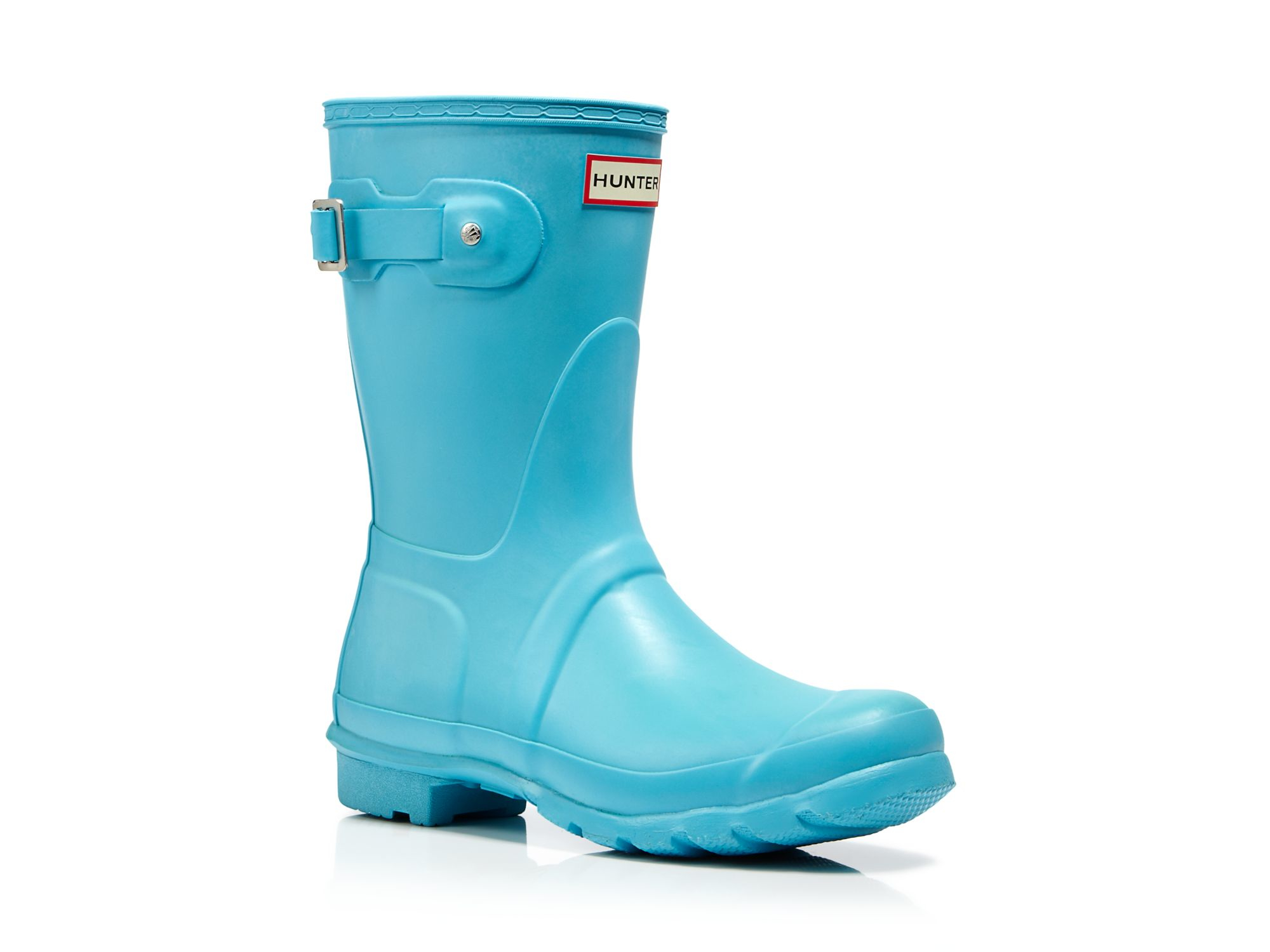 Hunter Rain Boots - Women's Original Short in Blue | Lyst