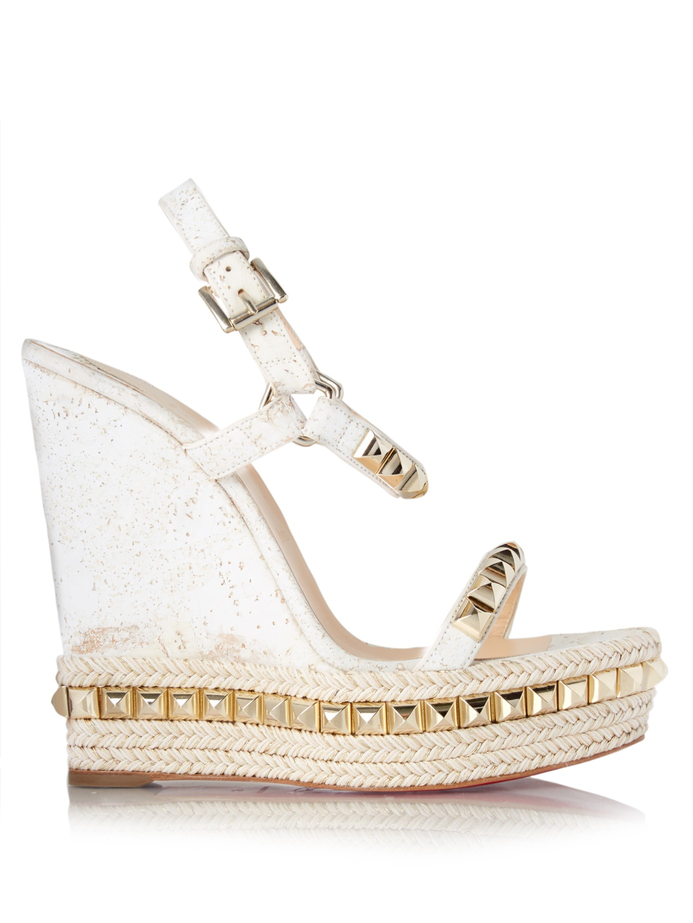 half off b13cc a48c2 promo code for white christian louboutin wedges 740e6 ee46f