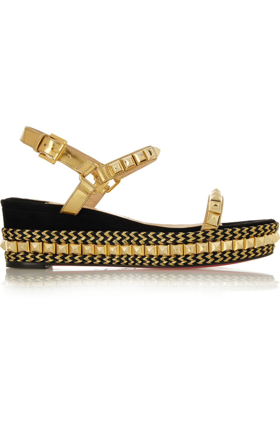 Christian louboutin Cataclou 60 Embellished Suede And Leather ...