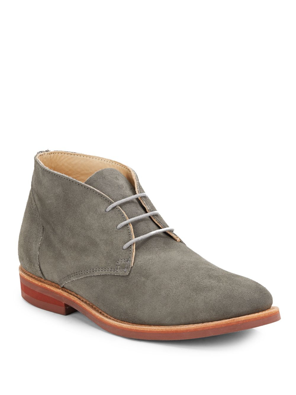 walk wilfred suede chukka boots in gray for grey