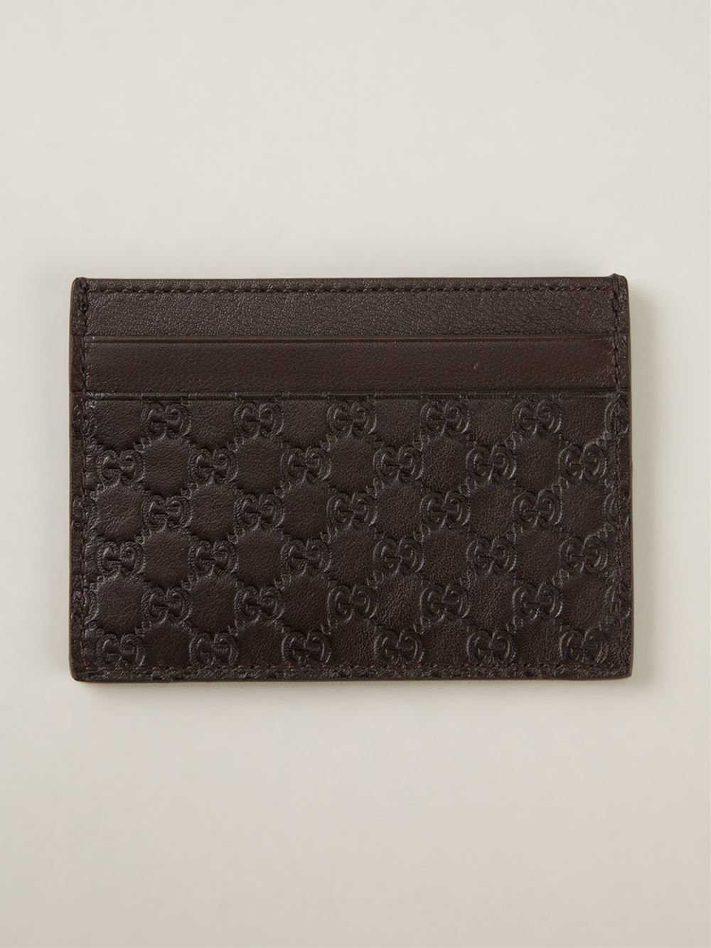 c296189a23ba7 Lyst - Gucci  ssima  Embossed Card Holder in Brown for Men