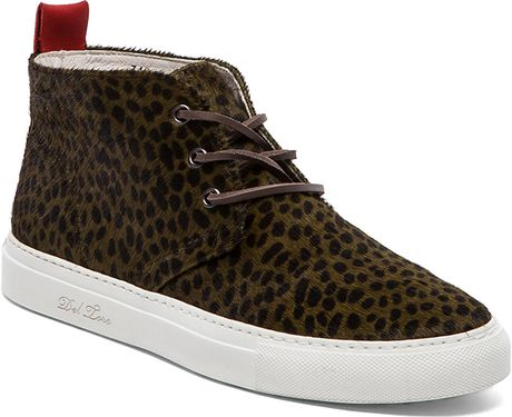 Del Toro Animal Print Ponyhair Chukka in Brown for Men (Olive Dalmata) - Lyst