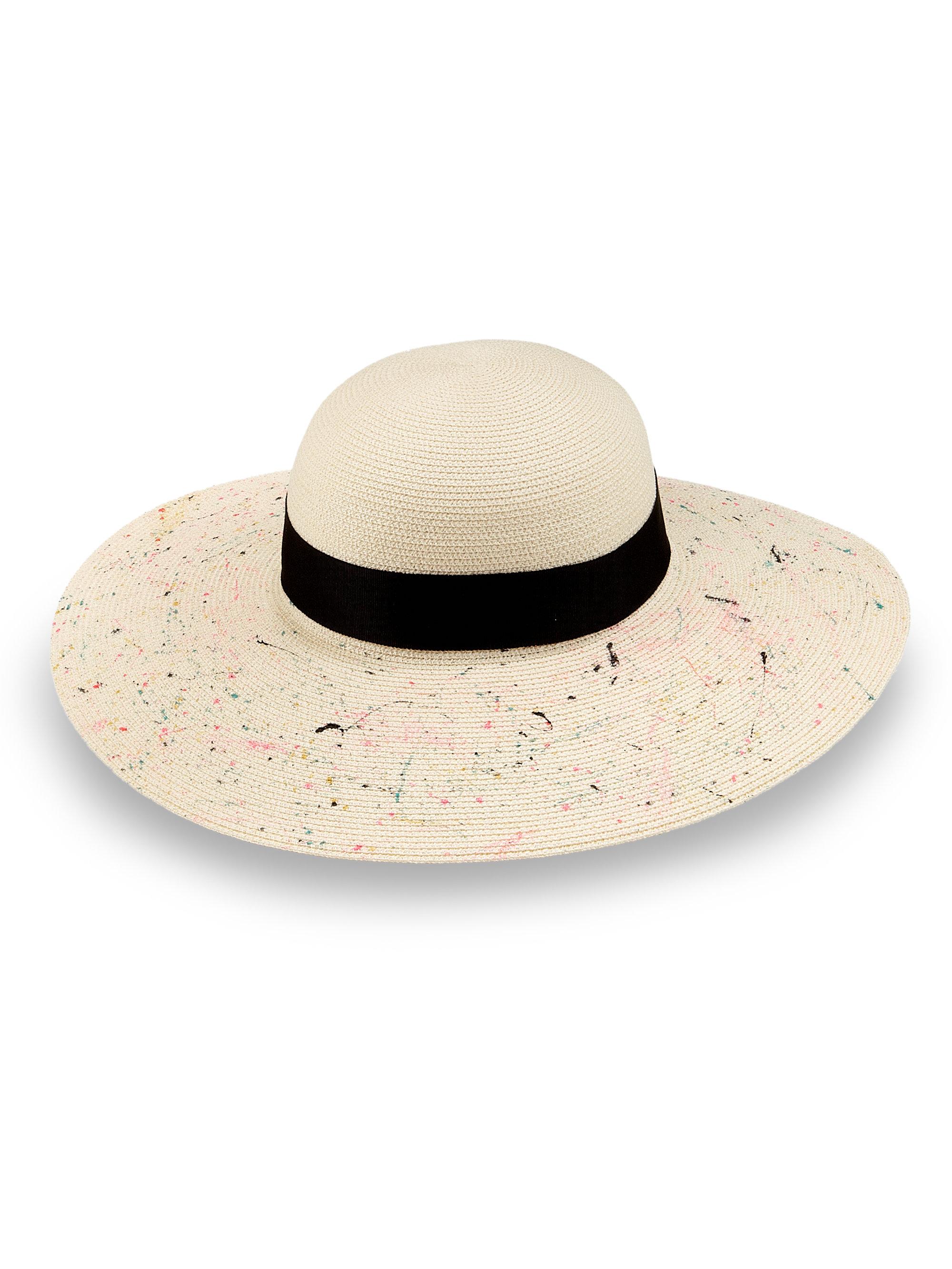 5e7447a5257b4 Eugenia Kim Honey Splatter Paint Wide-Brim Hat in White - Lyst