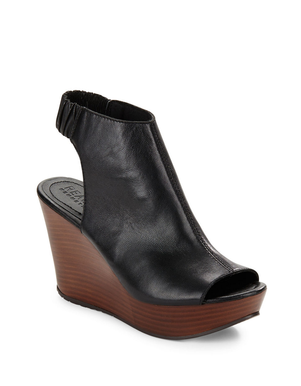 Kenneth Cole Reaction Sole Chic Leather Slingback Wedge