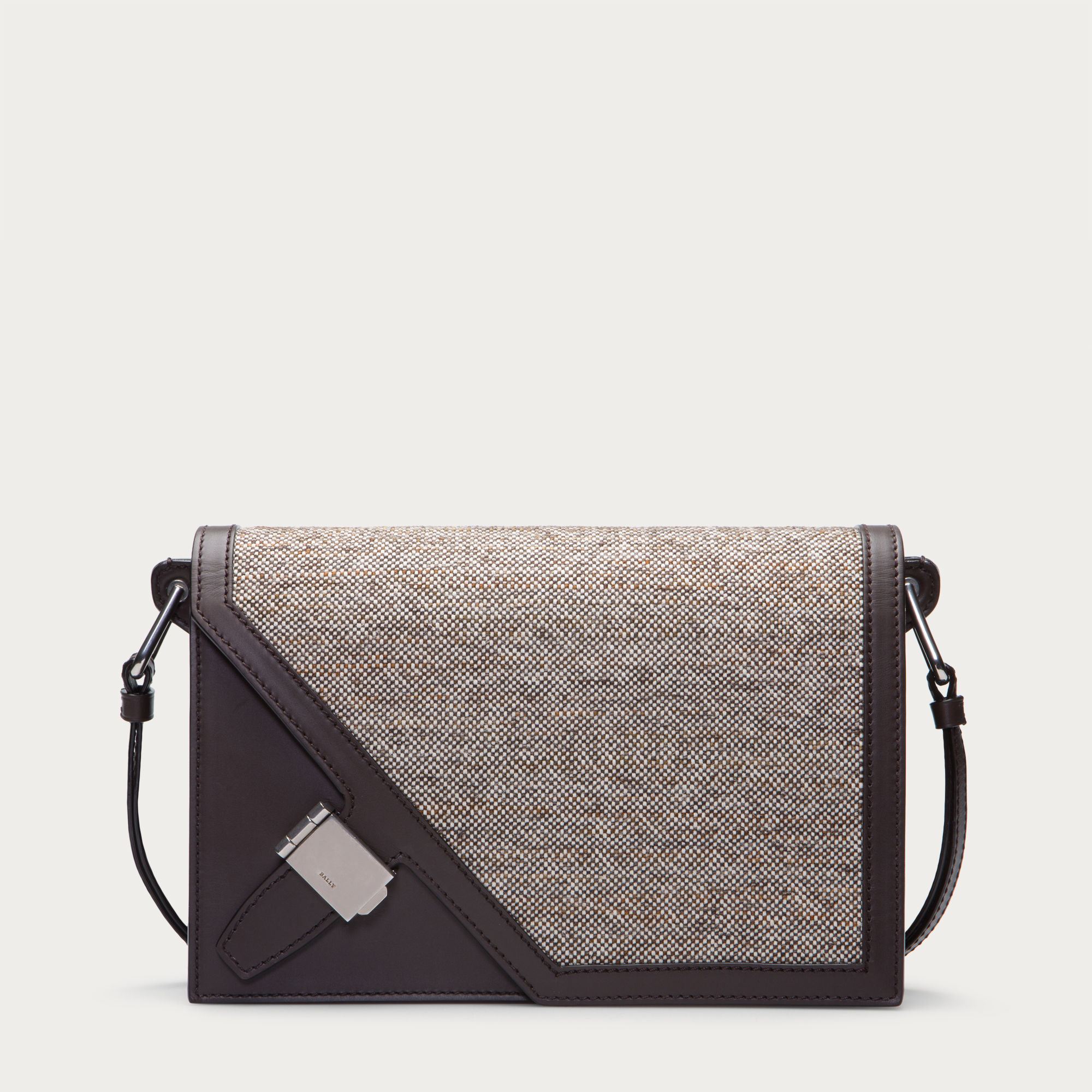 Lyst - Bally Oblique Small Women ́s Leather   Fabric Shoulder Bag In ... c585942d9977f