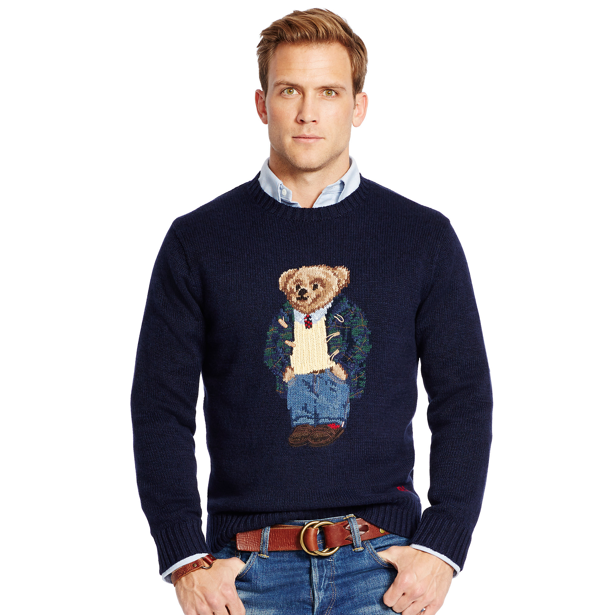 Polo ralph lauren Preppy Polo Bear Sweater in Blue for Men | Lyst