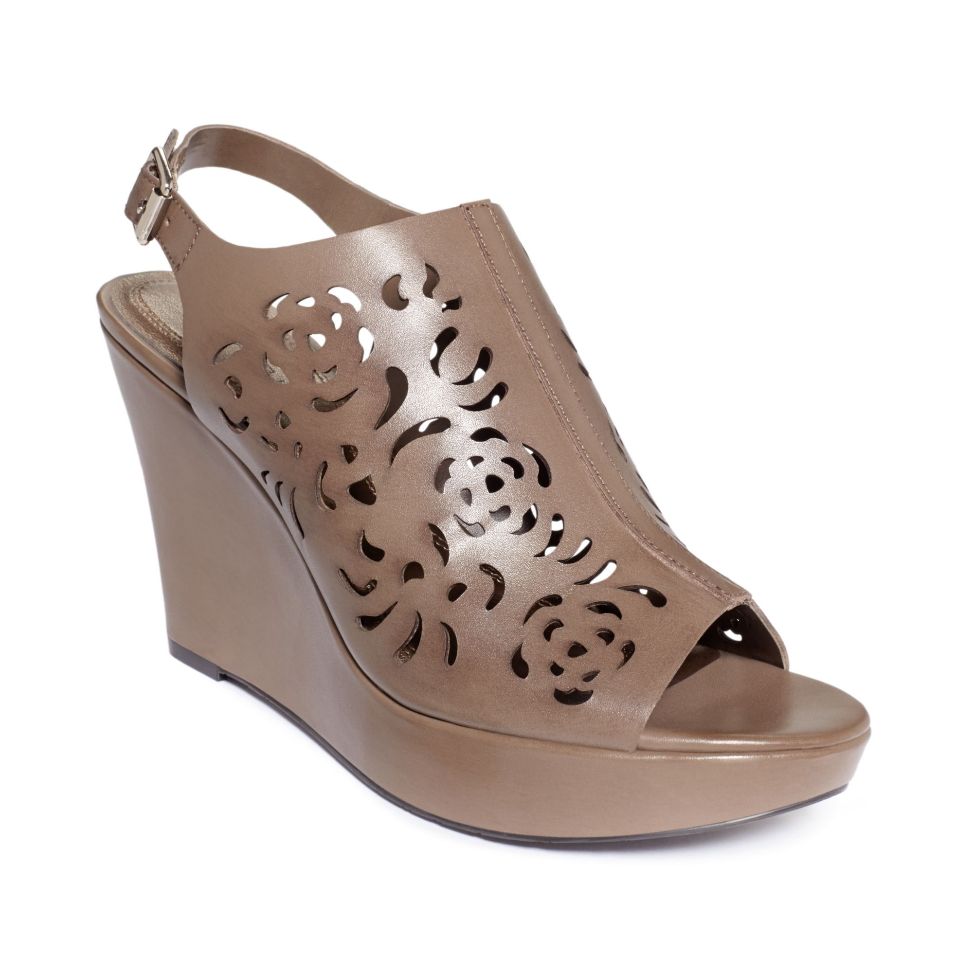 tahari womens platform wedge sandals in brown