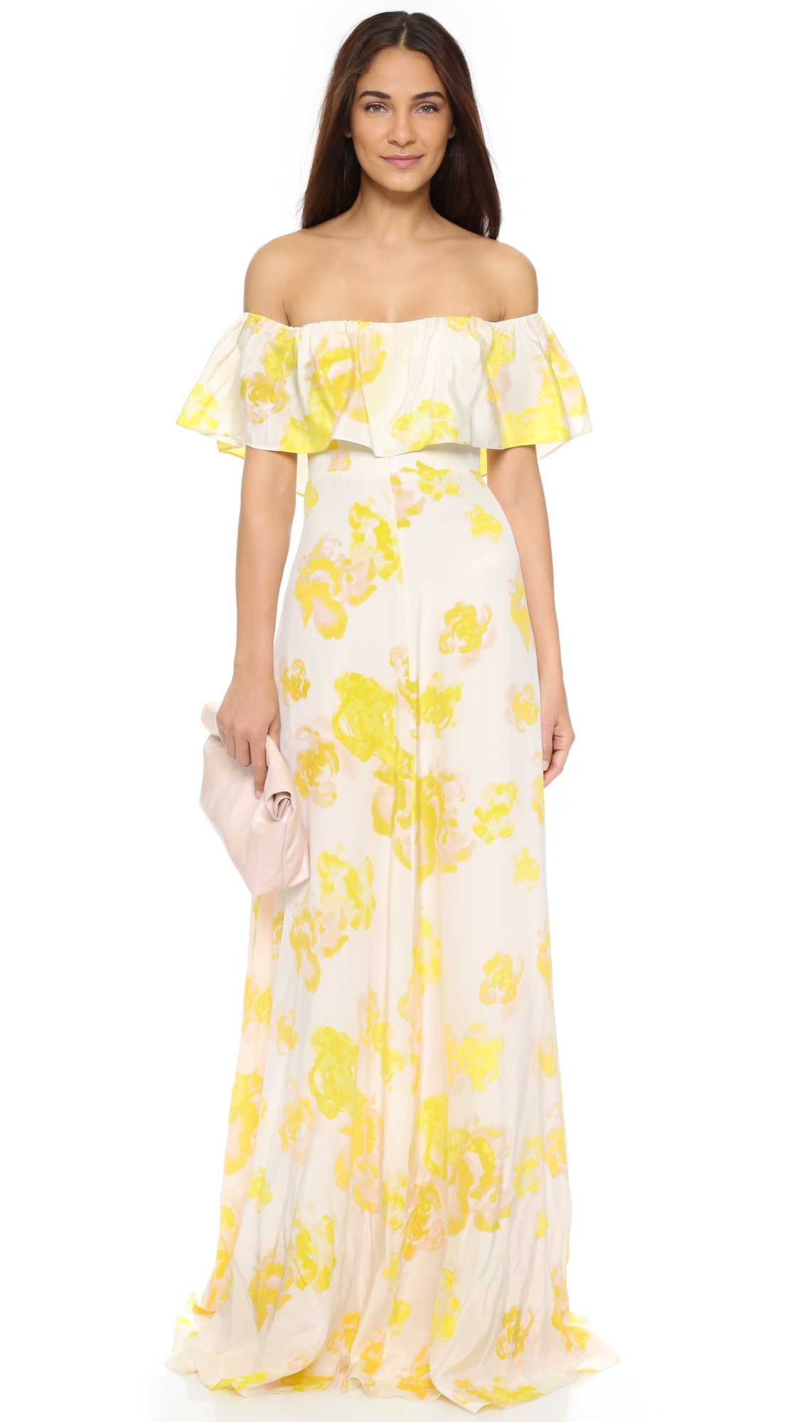 Lyst - Amanda Uprichard Delilah Dress in Yellow