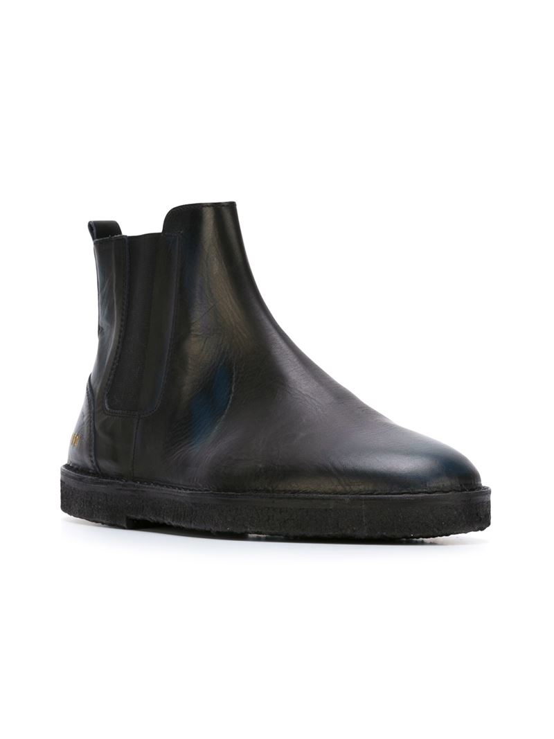 golden goose deluxe brand portman ankle boots in black