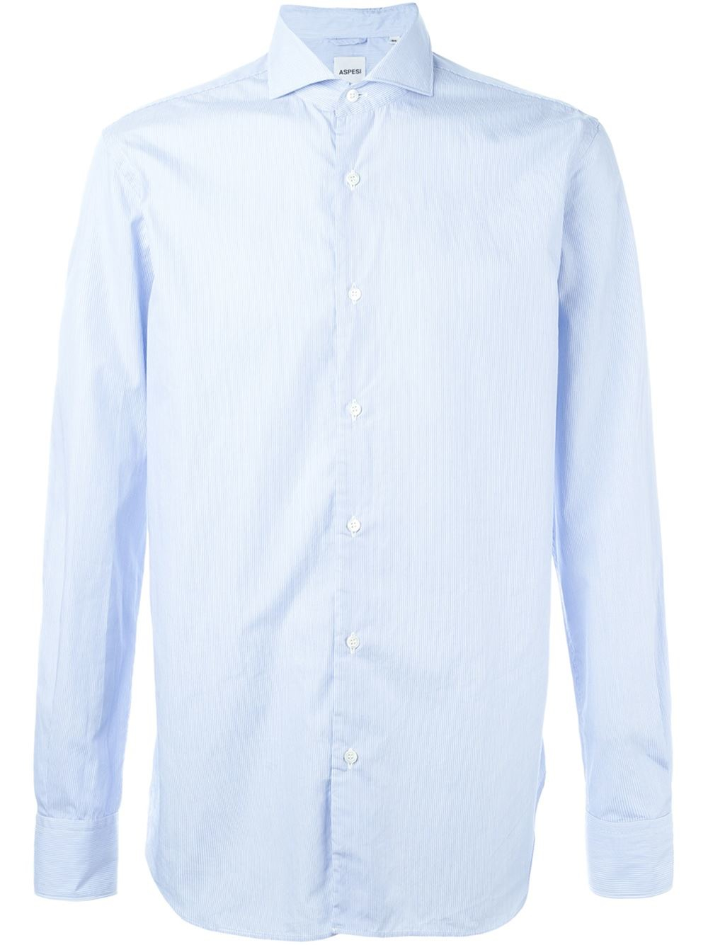 Aspesi thin stripe shirt in blue for men save 40 lyst Shirts for thin guys