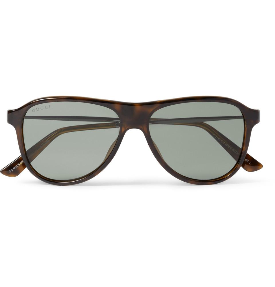 b631ca0e08b Gucci Metal And Acetate-frame Aviator Sunglasses