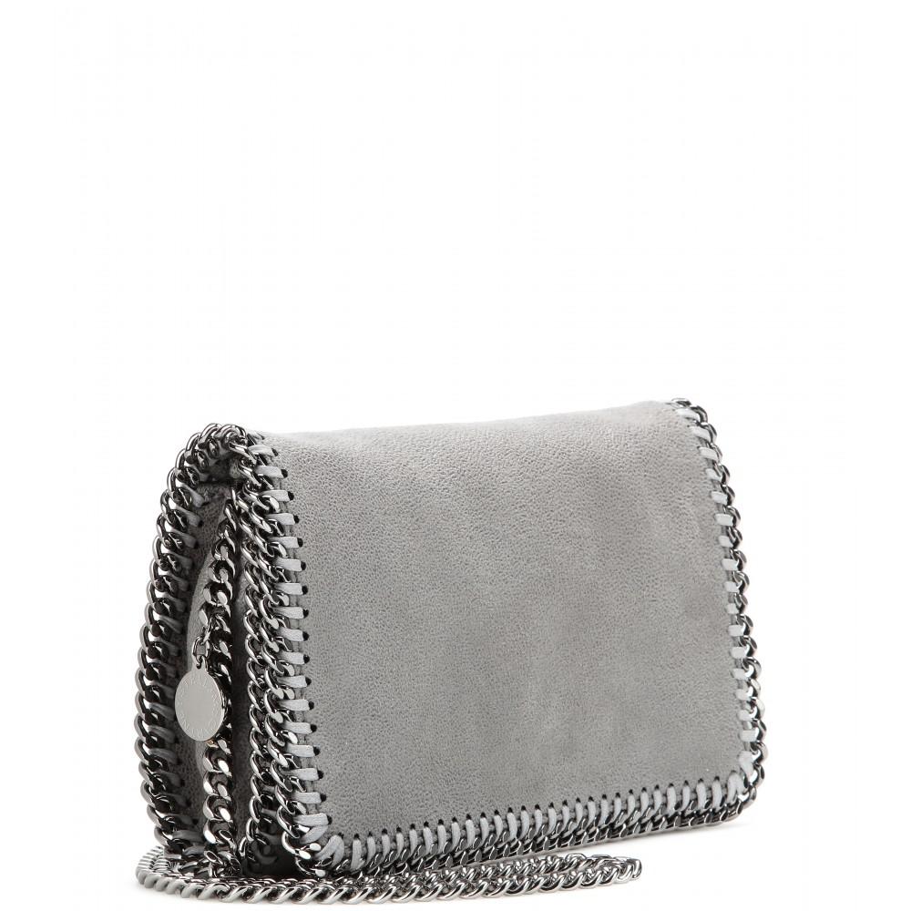 622b68248815 Stella McCartney Falabella Shaggy Deer Mini Shoulder Bag in Gray - Lyst