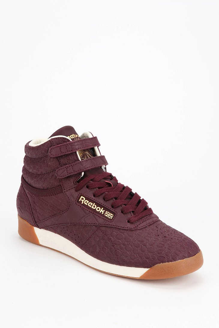 lyst reebok exotics high top sneaker in purple. Black Bedroom Furniture Sets. Home Design Ideas
