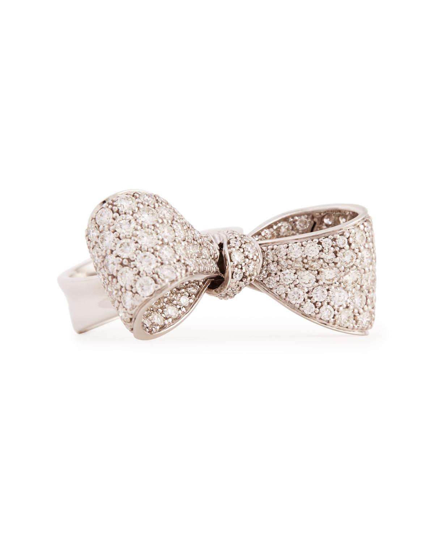 Ring Bow Il Gioiello Personalizzabile Con La Tua Nailart: Mimi So Bow Mid Size 18k White Gold Diamond Ring