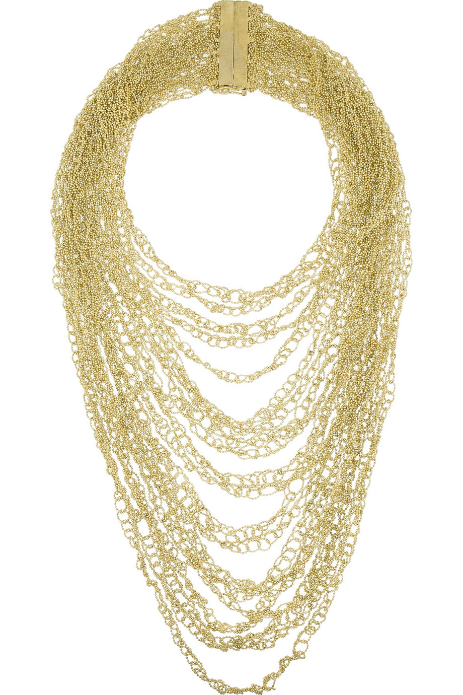 Rosantica Iliade Gold-Dipped Tiered Necklace Yohdp