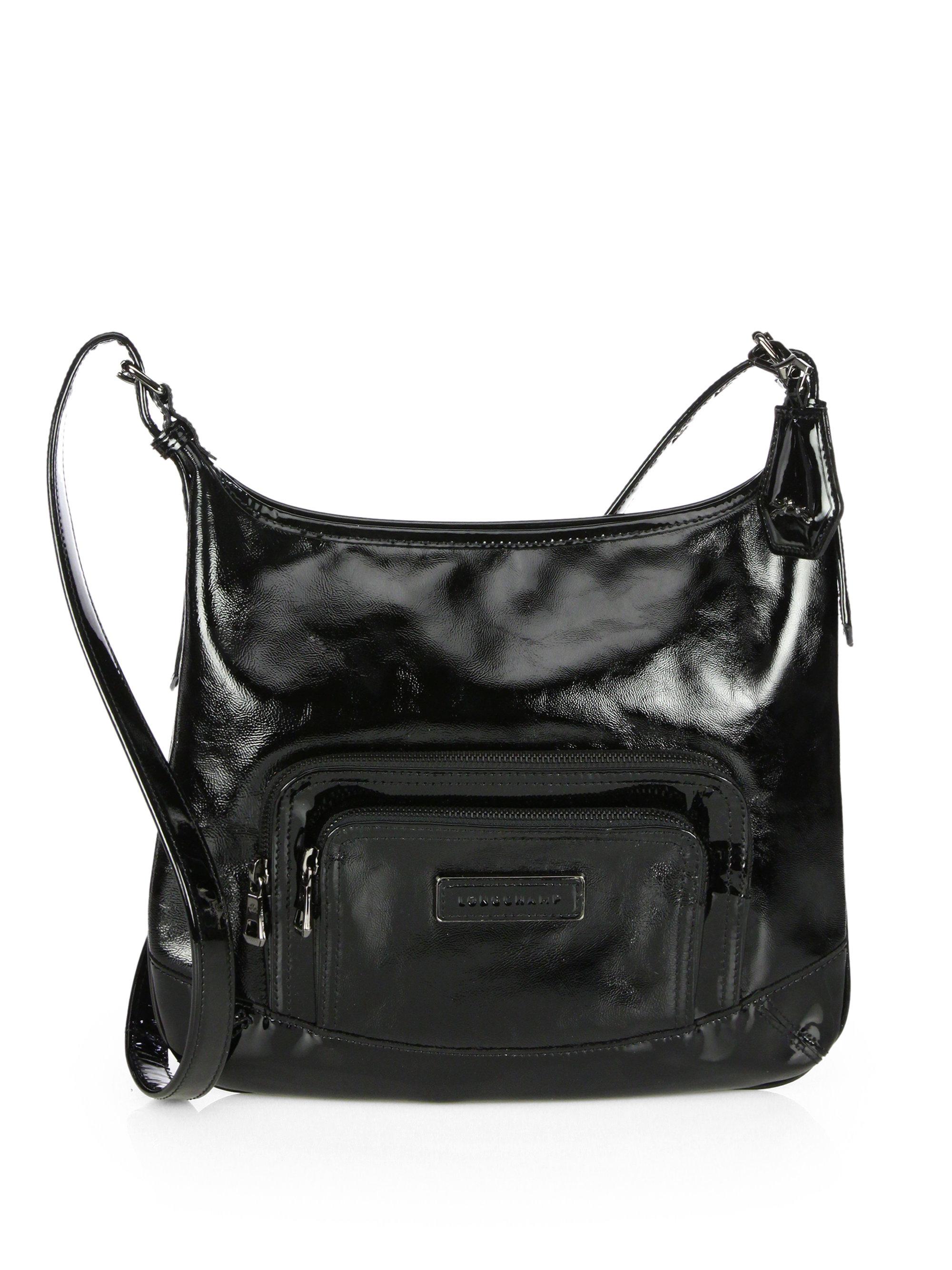 ce5003322e66 Lyst - Longchamp Legende Verni Patent Leather Crossbody Bag in Black