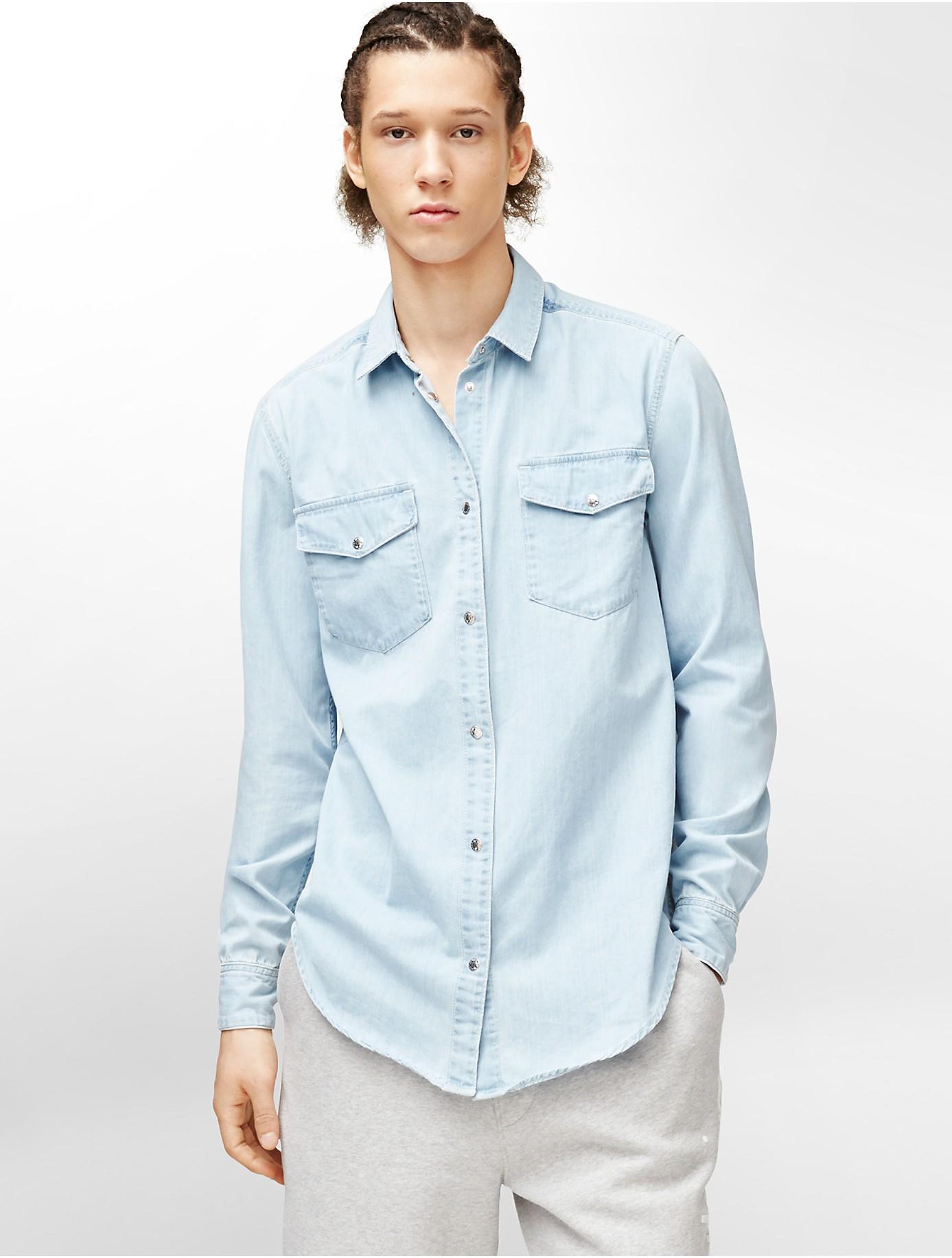 Calvin Klein Longsleeved denim shirt bJQX5pDTU