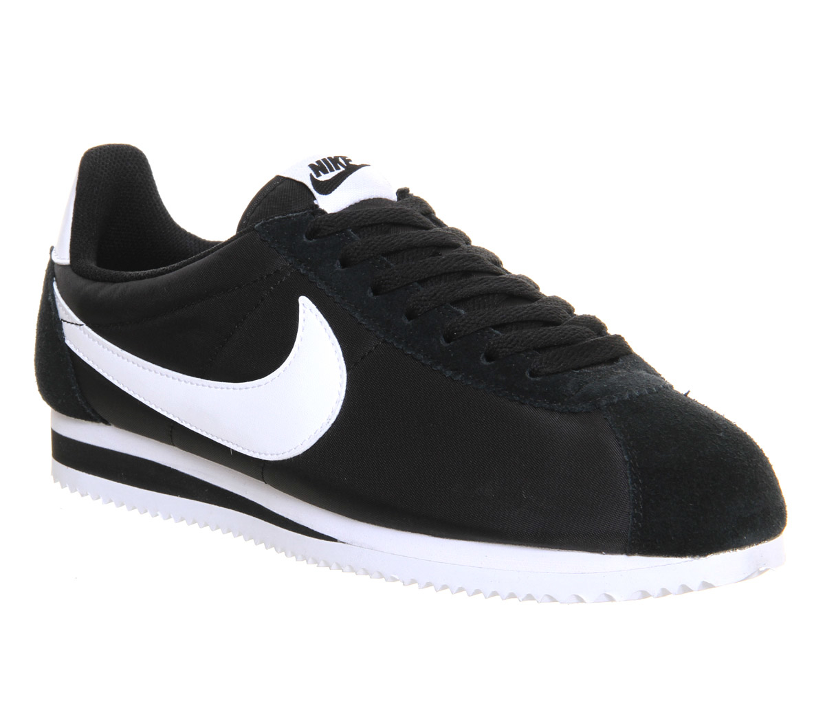 nike cortez nylon in black lyst. Black Bedroom Furniture Sets. Home Design Ideas