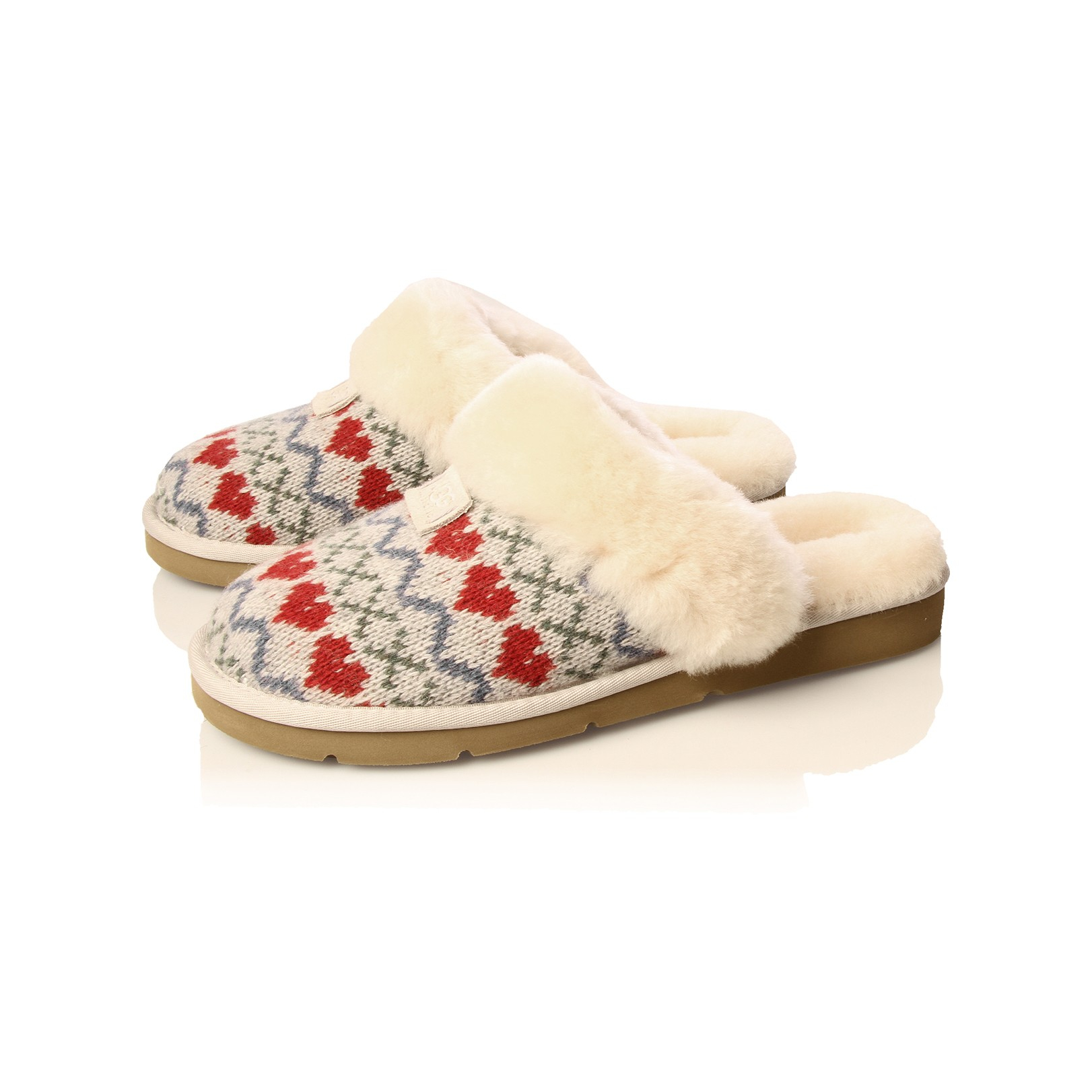 Ugg Cozy Knit Heart In Natural Lyst