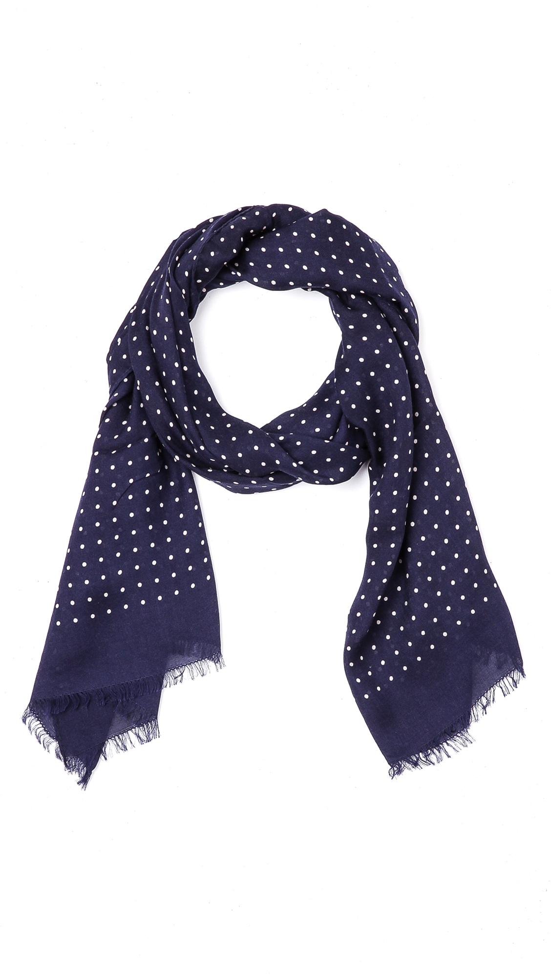 s classic spot scarf in blue for lyst