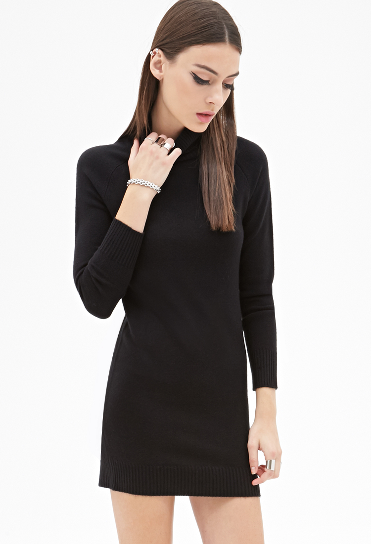 cd7d1a57e Black Turtleneck Dress Forever 21 – Little Black Dress | Black Lace ...