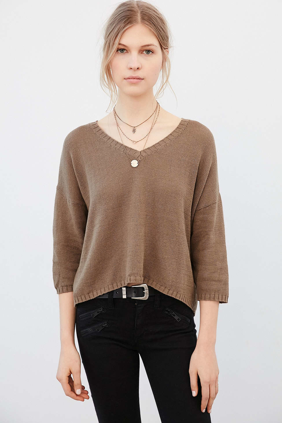 Ecote Scout Pullover Sweater in Brown | Lyst