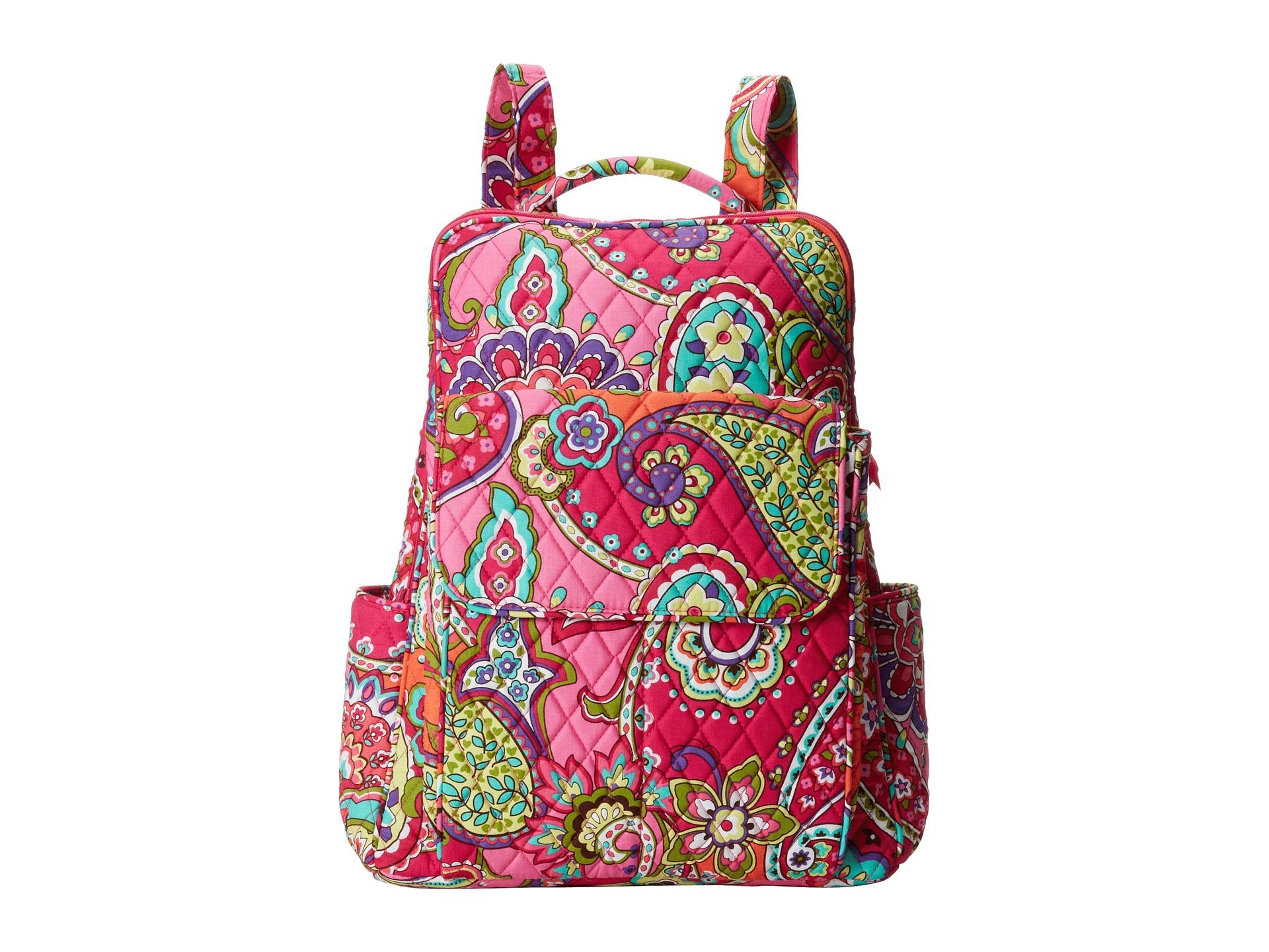 efedacd1d8 Vera Bradley Campus Backpack Pink Swirls - Motorslist