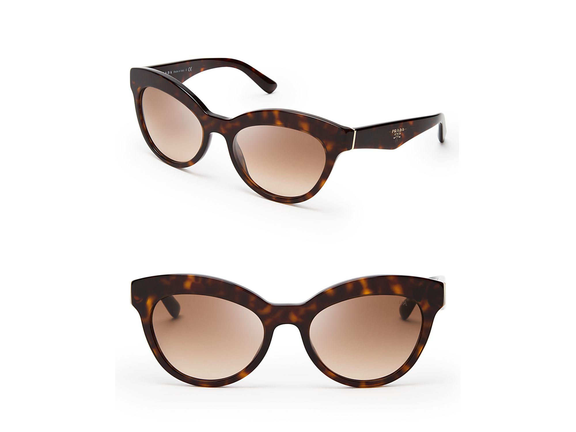 f0b8bdab403 ... france lyst prada heritage cat eye sunglasses in brown 43ac3 abc44