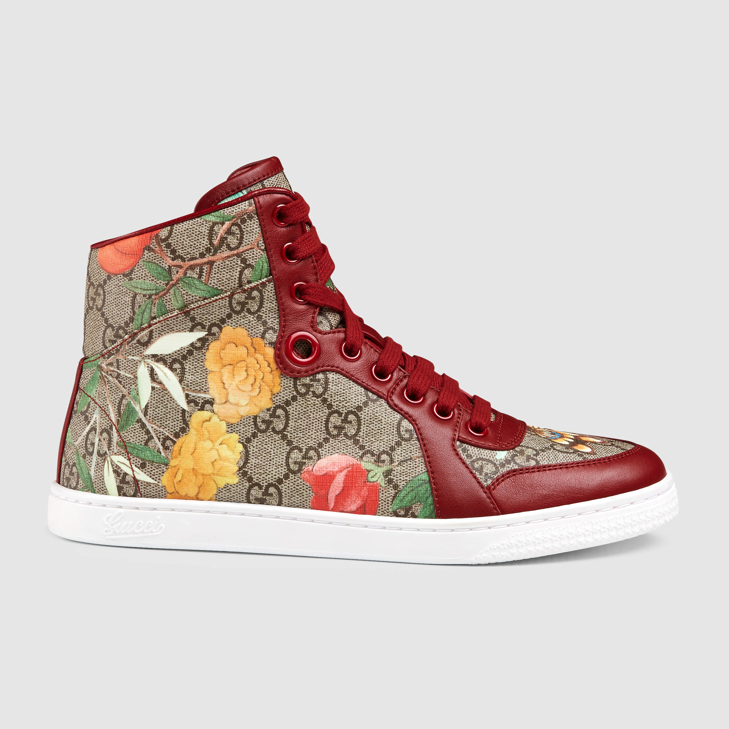 gucci women 39 s tian high top sneaker in multicolor lyst. Black Bedroom Furniture Sets. Home Design Ideas