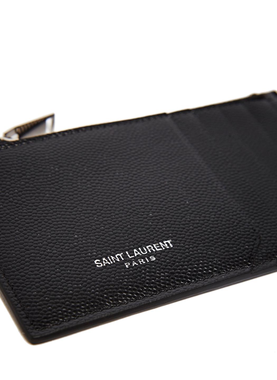 Pebble-grain Leather Pouch Saint Laurent OI05t