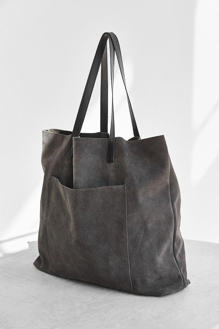 Bdg Suede Pocket Tote Bag in Gray | Lyst