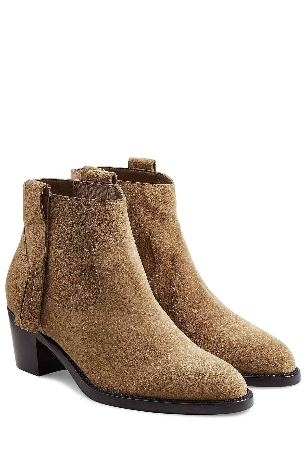 bc980d08cd81 Burberry Suede Ankle Boots - Camel in Natural - Lyst