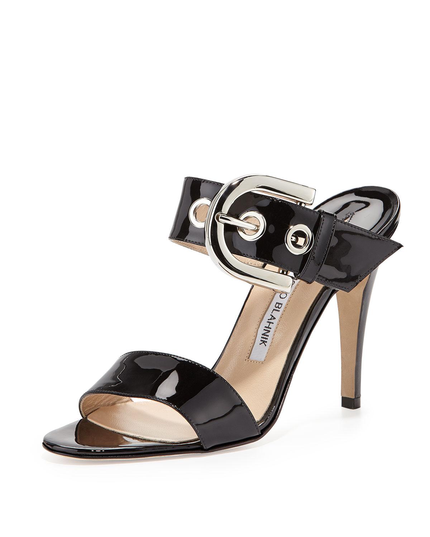 Manolo Blahnik Oversized buckle sandals pVRlt